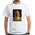 Fairies & Red Doberman White T-Shirt