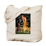 Fairies & Red Doberman Tote Bag