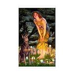 Fairies & Red Doberman Sticker (Rectangle)