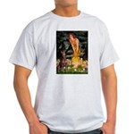 Fairies & Red Doberman Light T-Shirt