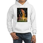 Fairies & Red Doberman Hooded Sweatshirt