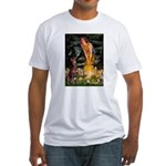 Fairies & Red Doberman Fitted T-Shirt