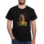 Fairies & Red Doberman Dark T-Shirt