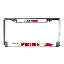Abenaki Pride License Plate Frame