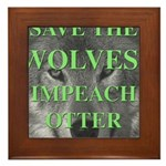 Help Idaho Wolves Framed Tile