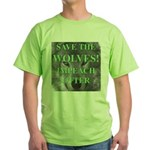 Help Idaho Wolves Green T-Shirt