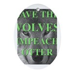 Help Idaho Wolves Oval Ornament