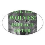 Help Idaho Wolves Oval Sticker