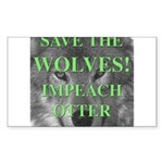 Help Idaho Wolves Rectangle Sticker