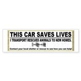 """This car saves lives"" Bumper Sticker"