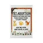 """Pet adoption"" Rectangle Magnet (10 pack)"