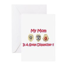 My Mom Is A Dispatcher Greeting Cards (Package of