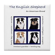 Cute Shepherd Tile Coaster