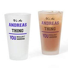 Cute Andreas Drinking Glass