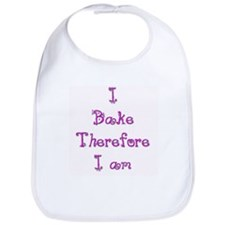 I Bake Therefore I Am 2 Bib