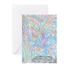 Young Bird in Tree Greeting Cards (Pk of 10)
