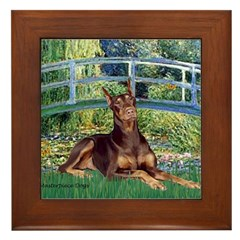 Bridge / Doberman Framed Tile
