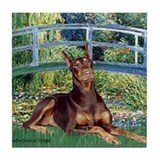 Bridge / Doberman Tile Coaster