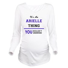 Cute Arielle Long Sleeve Maternity T-Shirt