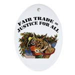 Fair Trade Oval Ornament