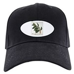 Coffee Botanical Print Black Cap