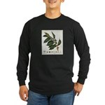 Coffee Botanical Print Long Sleeve Dark T-Shirt