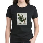 Coffee Botanical Print Women's Dark T-Shirt