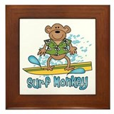 Surf Monkey Framed Tile