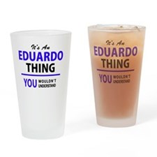 Cute Eduardo Drinking Glass