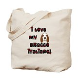 Love Bracco Italiano Tote Bag