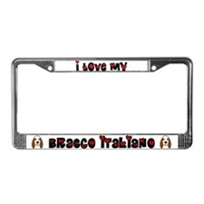 Love Bracco Italiano License Plate Frame