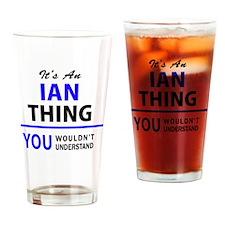 Funny Ian Drinking Glass