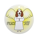 Peace Joy Bracco Italiano Christmas Ornament