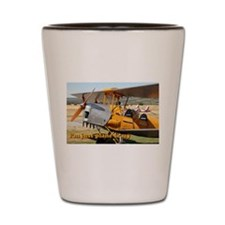 I'm just plane crazy: Tiger Moth Shot Glass