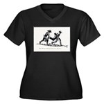 Boot Hill Women's Plus Size V-Neck Dark T-Shirt