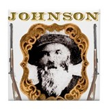 Liver eating Johnson Jeremiah Tile Coaster