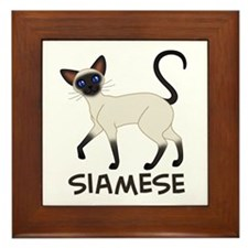Seal Point Siamese Framed Tile
