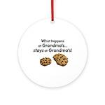 Stays at Grandmas! Ornament (Round)