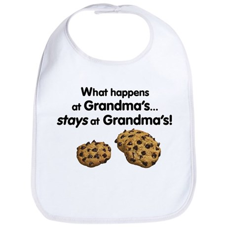 Stays at Grandmas! Bib