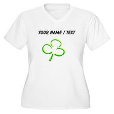 Custom Shamrock Plus Size T-Shirt