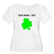 Custom Green Shamrock Plus Size T-Shirt