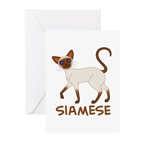 Choc. Point Siamese Greeting Cards (Pk of 10)
