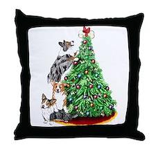Corgi Christmas Throw Pillow