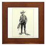 1920s Movie Cowboy Framed Tile