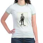 1920s Movie Cowboy Jr. Ringer T-Shirt