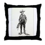 1920s Movie Cowboy Throw Pillow