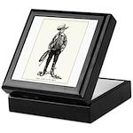 1920s Movie Cowboy Keepsake Box