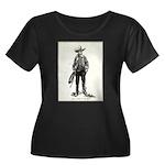 1920s Movie Cowboy Women's Plus Size Scoop Neck Da