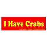 I Have Crabs - Revenge Stickers