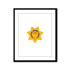 Arizona Highway Patrol Framed Panel Print